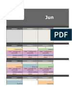 Social Media Content Calendar MSME