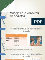 Manejo de La Vía Aérea en Pediatría.