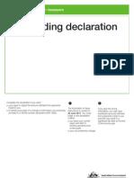 Withholding Declaration
