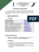 Circular Nº 01- Consejo Academico - IES 9-012