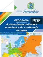 A Diversidade Cultural e Econômica Do Continente Europeu