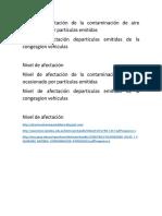 Nivel de Afectación de La Contaminación de Aire Ocasionado Por Partículas Emitidas