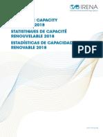 IRENA RE Capacity Statistics 2018