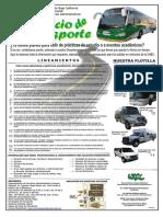Tabloide Lineamientos Servicio de Transporte
