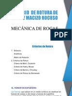 Criterio de Rotura de Roca y Macizo Rocoso