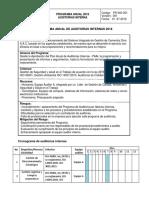 Programa Anual de Auditorías Internas
