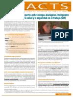 Factsheet 68 - Previsiones de Los Expertos Sobre Riesgos Biologicos Emergentes Relacionados Con La Salud y La Seguridad en El Trabajo -SST