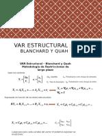 Var Estructural Blanchard
