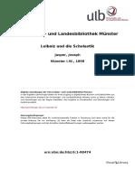 Leibniz Und Die Scholastik