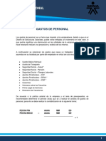 (10) Gastos de Personal