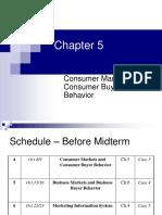 CH05 - Consumer Markets and Consumer Buyer Behavior (1)