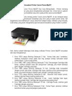 Cara Memperbaiki Kerusakan Printer Canon Pixma Mp237
