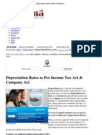 Depreciation Rates _ Rates of Depreciation as Per Income Tax Act & Company Act
