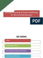 Entrepreneurship & Online Marketing for Micro
