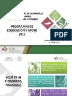 Programas y Productos FND OCTUBRE 2015