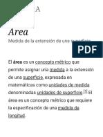 Área - Wikipedia, La Enciclopedia Libre