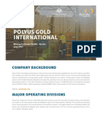 Polyus Gold International Customer Profile-June 2017