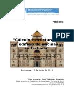 Calculp estructural de Edificio de oficinas y su fachada.pdf