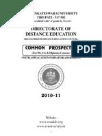 Pg Ug Common Prospectus 2010