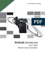 Bizhub 362 282 222 Network Scanner Operations