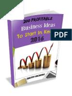 200 Business Ideas