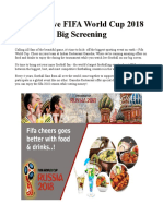 Watch Live FIFA World Cup 2018 Big Screening