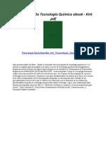 Enciclopedia de Tecnologia Quimica