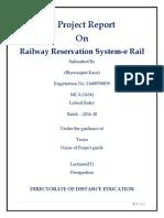 Railway Reservation System-e Rail
