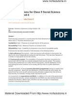 NCERT Solutions for Class 9 Social Science Economics Unit 4