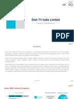 Dish TV Investor Presentation 2QFY18