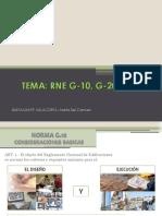 Reglamento Nacional de Edificaciones G-10 a G-40