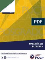 Maestria en Economia