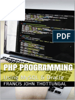 PHP Programming Using MySQL & Oracle