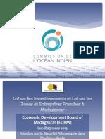 Les Lois Sur Les Investissements a Madagascar Et Loi Sur Les Zones Franches