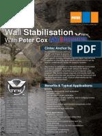 Peter Cox - Anchorbond Wall Stabilisation - Datasheet Leaflet
