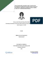 Contoh Laporan PKP UT PGSD IPA Ciri Benda Padat Dan Benda Cair - Pemantaan Kemampuan Profesional PDGK4560