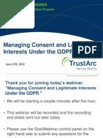 GDPR Consent Management and Legitimate Interests Insight Webinar TrustArc
