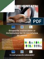 Grupurile Vulnerabile Și Incluziunea Lor În