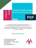Infobrochure & lessentabellen 2018 2019