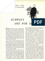 Subways Are for Sleeping - Edmund G. Love -Harper's 1956