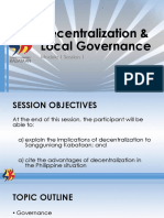 Module 1 Decentralization and Local Governance