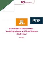 Schoolreglement GO! MS TintelStroom 2018 2019