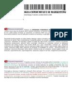 Sociologia Consumului Si Marketing 2010