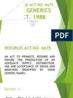 The Generics Act