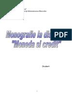 Monografie - Moneda Si Credit - Cardul - Instrument Modern de Plata