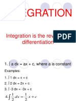 3.1 Indefinite Integral