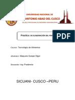 Informe de Laboratorio de Tecnologia de Alimento Elboracion de Paneto (Autoguardado)
