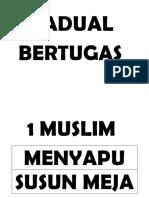 Word Jadual Bertugas