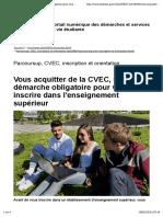 CVEC, une démarche obligatoire pour vous inscrire dans l'enseignement supérieur - etudiant.gouv.fr