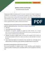 Inscriere FCIC Nivel Licenta 2018